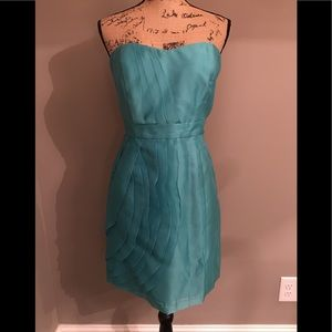 NWT Maxandcleo light turquoise strapless cocktail